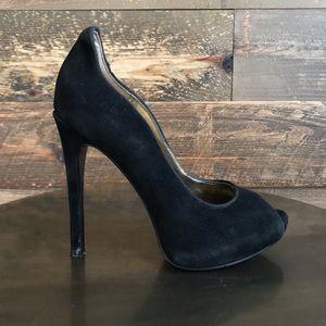 NINE WEST Black Heels in Suede- NEW size 6